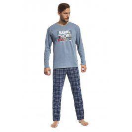 Pánské bavlněné pyžamo London Street  modrá