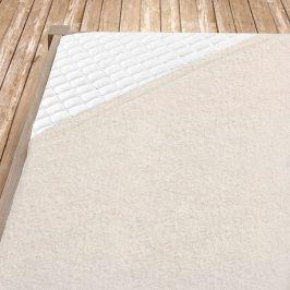 Smetanové bambusové prostěradlo Jednolůžko Bambus - froté