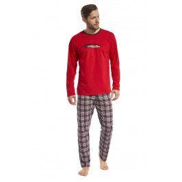 Pánské pyžamo Display červené  červená