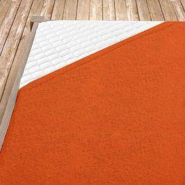 Napínací froté prostěradlo oranžové Jednolůžko Bavlna - froté