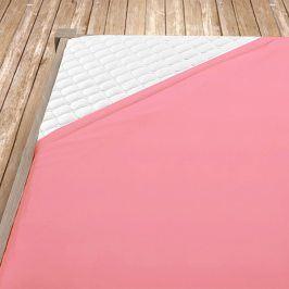 Napínací jersey prostěradlo růžové Jednolůžko Bavlna - jersey