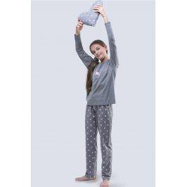 Dívčí pyžamo Meow šedé  šedá