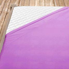Prostěradlo jersey napínací fialové Jednolůžko Bavlna - jersey