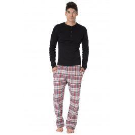 Pánské pyžamo Yves  černočervená