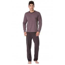 Pánské pyžamo Joseph  hnědofialová