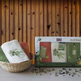 Dárková sada ručníků Olive 30x50 cm bavlna