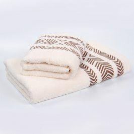 Bambusový ručník Tara - ecru 50x90 cm Ručník