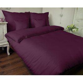 Povlečení UNI fialové 140x200 jednolůžko - standard Bavlněný satén
