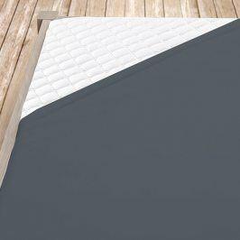 Tmavě šedé bambusové jersey prostěrdlo Dvojlůžko Bambus - jersey