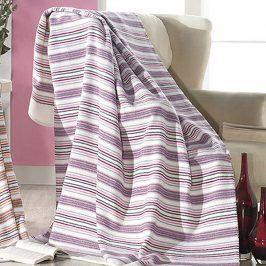 Pruhovaná deka Cloe 150x200 cm Bílá