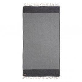Lehká plážová osuška Mystia Charcoal 90x180 cm šedá