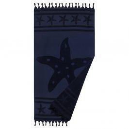 Plážová osuška Navy Star 90x160 cm modrá