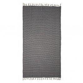 Lehká plážová osuška Tyhme Regent 100x180 cm šedá