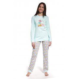 Dívčí pyžamo Have fun  šedozelená