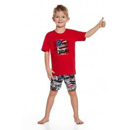 Chlapecké pyžamo America  červenočerná