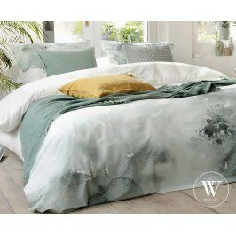 Povlečení Walra Green Blossom 140x200 jednolůžko - standard bavlna