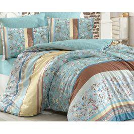 Povlečení Sienna tyrkysová 140x200 jednolůžko - standard bavlna