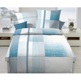Povlečení Weave modré 140x200 jednolůžko - standard Bavlněný satén