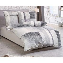 Povlečení Weave šedé 140x200 jednolůžko - standard Bavlněný satén