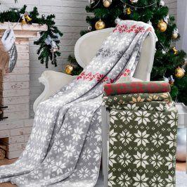 Vánoční deka Kerstin 150x200 cm šedá