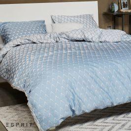 Povlečení Esprit Mina modré 140x200 jednolůžko - standard Bavlněný satén