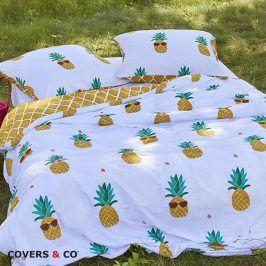 Povlečení Covers & Co Pineapple 140x200 jednolůžko - standard bavlna