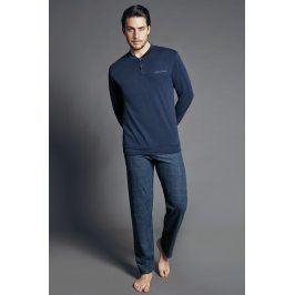Pánské italské pyžamo Max  modrá