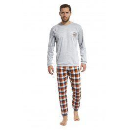 Pánské pyžamo San Francisco  šedooranžová