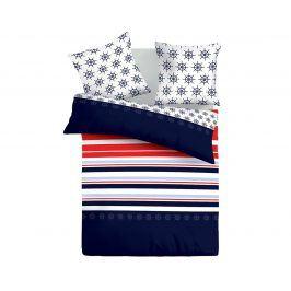 Povlečení Navy 140x200 jednolůžko - standard bavlna