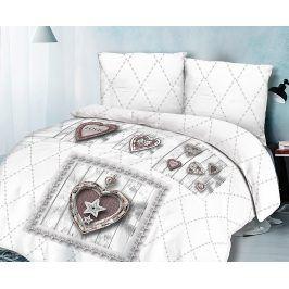Povlečení Heart 220x200 dvojlůžko - standard bavlna