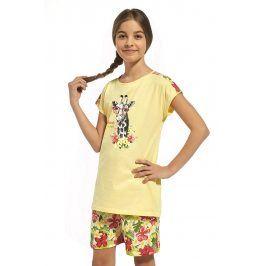 Dívčí bavlněné pyžamo Aloha  žlutá