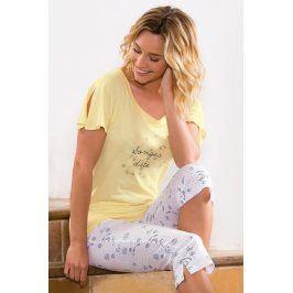Dámské pyžamo Onirique  žlutá