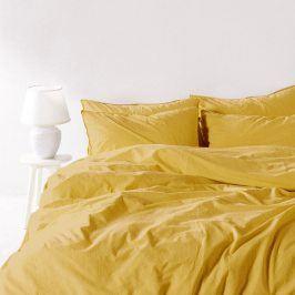 Povlečení Stonewash žluté 140x200 jednolůžko - standard bavlna