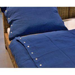 Povlečení lněné modré 140x200 jednolůžko - standard Len
