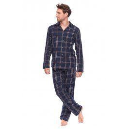 Pánské kabátkové pyžamo David  tmavěmodrá