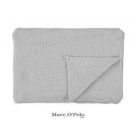Pletený pléd Marc O Polo Nordic Silver 130x170 cm šedá