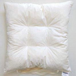 Podsedák smetanový 40x40 cm bílá