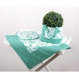 Kuchyňský SET Selský styl zelený 90 x 90 cm zelená