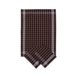 Set kuchyňských utěrek hnědý 50x70 cm bavlna