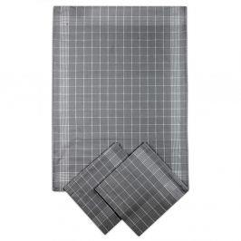Set kuchyňských utěrek tmavě šedý 50x70 cm bavlna