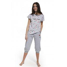 Dívčí pyžamo Lashes  šedá