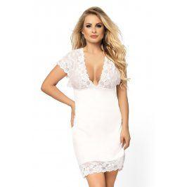 Luxusní noční košilka Lesley  bílá