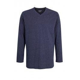 Pánské pyžamové triko Ceceba Melange  modrá