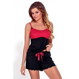 Dámské pyžamo Mirabella  černočervená