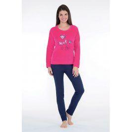 Dámské hřejivé pyžamo Badge růžové  modrá/růžová