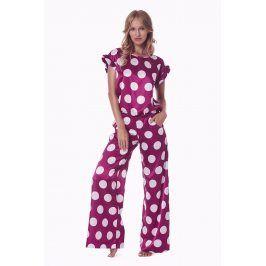 Dámský pyžamový komplet Cleo  bordo