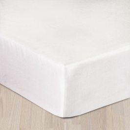 Napínací saténové prostěradlo bílé Dvoulůžko - standard Bavlna - satén