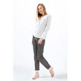 Dámské pyžamo Charlotte melange  melange