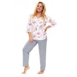 Dámské plus size pyžamo Lovely  bílá