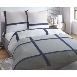 Povlečení Tiles Grey 200x220 dvojlůžko - prodloužené Bavlněný satén